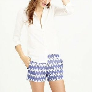 J. Crew Size 2 Chevron Stripe Blue/White Shorts 🐬